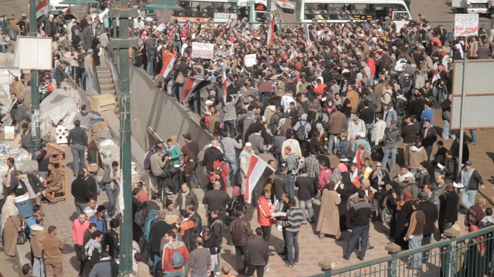 CAIRO'S BIG MARCH ON TAHRIR, PART 1